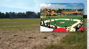 The SEARK Miracle League baseball field will be located at the Monticello Sports Complex and look similar to this completed field located in Puerto Rico.