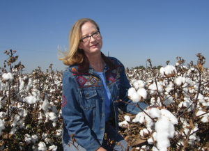 Dr. Jane Dever specializes in cotton breeding at Texas A&M University in Lubbock.