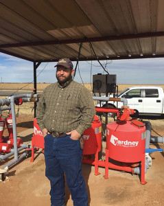 Texas cotton farmer Jamey Duesterhaus farms 1,900 acres of cotton, of which 260 acres are watered using a subsurface drip irrigation system.