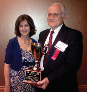 Louis Colombini, the 2015 Horace Hayden National Cotton Ginner of the Year recipient, with his wife, Christie.