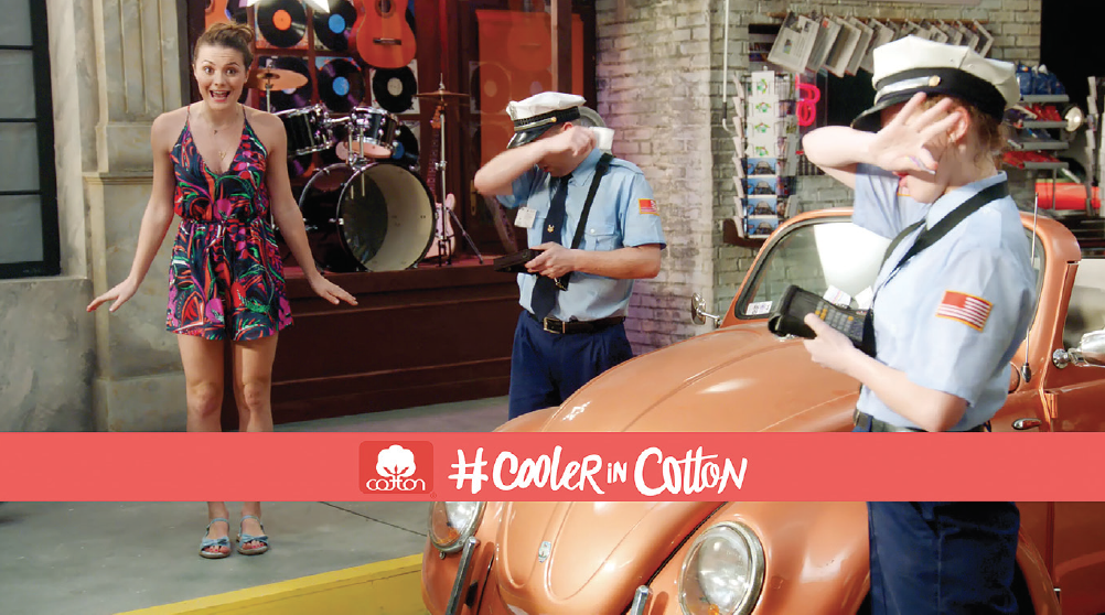 Cotton Incorporated produced a digital music video that uses humor and catchy lyrics to encourage consumers to wear cotton during the hot and humid months.