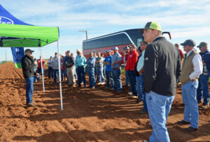 Cotton growers visited Agronomic Performance Trials on the Gary Everett Farm as part of Bayer's recent cotton field day near Idalou, Texas.