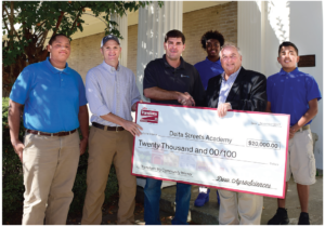 Delta Streets Academy check presentation by Dow