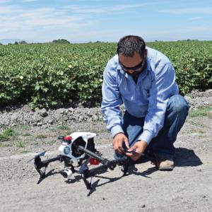 Justin Metz, drone, Bowles Farming