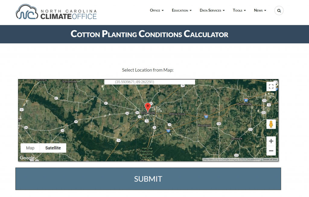 NC state cotton planting model