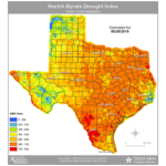 Aug. 20, 2019 texas drought map