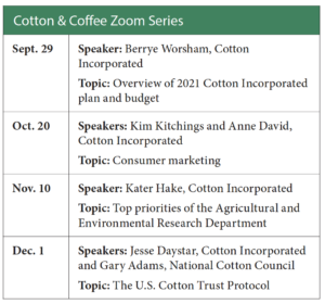 coffee and cotton schedule