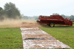 calibrating poultry litter spreader