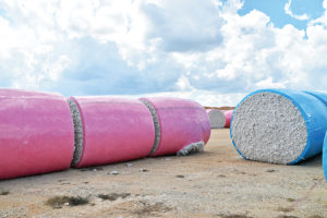 plastic contamination, ripped bales